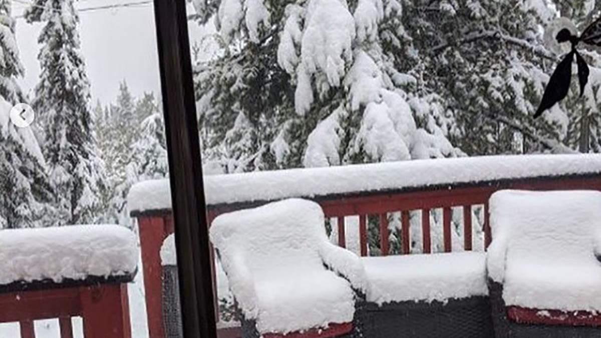 У Канаді випав сніг