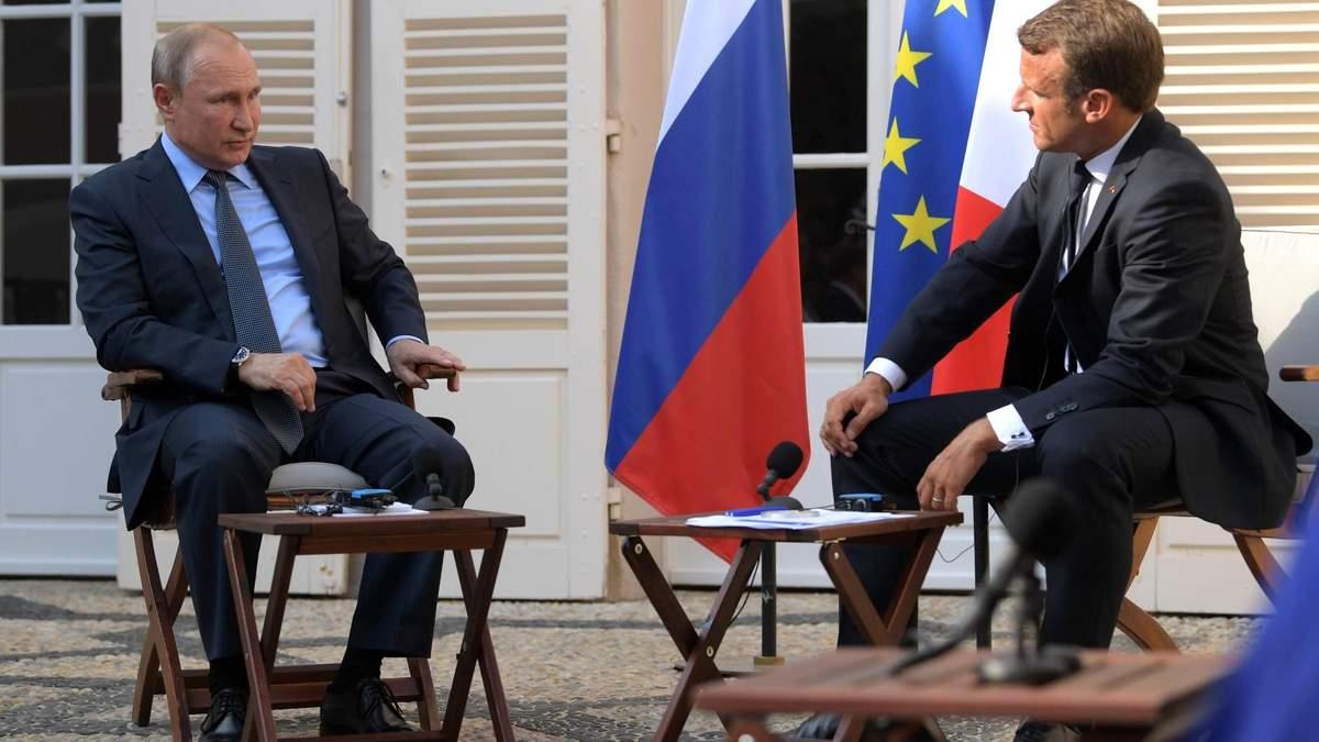 Встреча президентов России и Франции