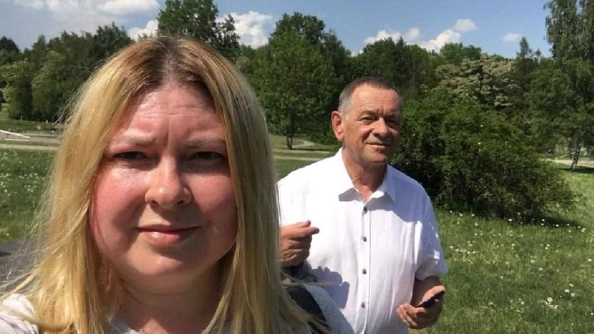 Катерина Гандзюк разом із батьком Віктором