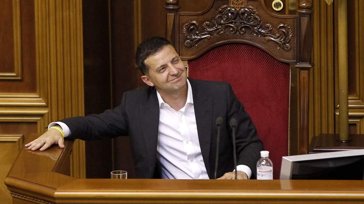 Володимир Зеленський на першому засіданні нової Ради