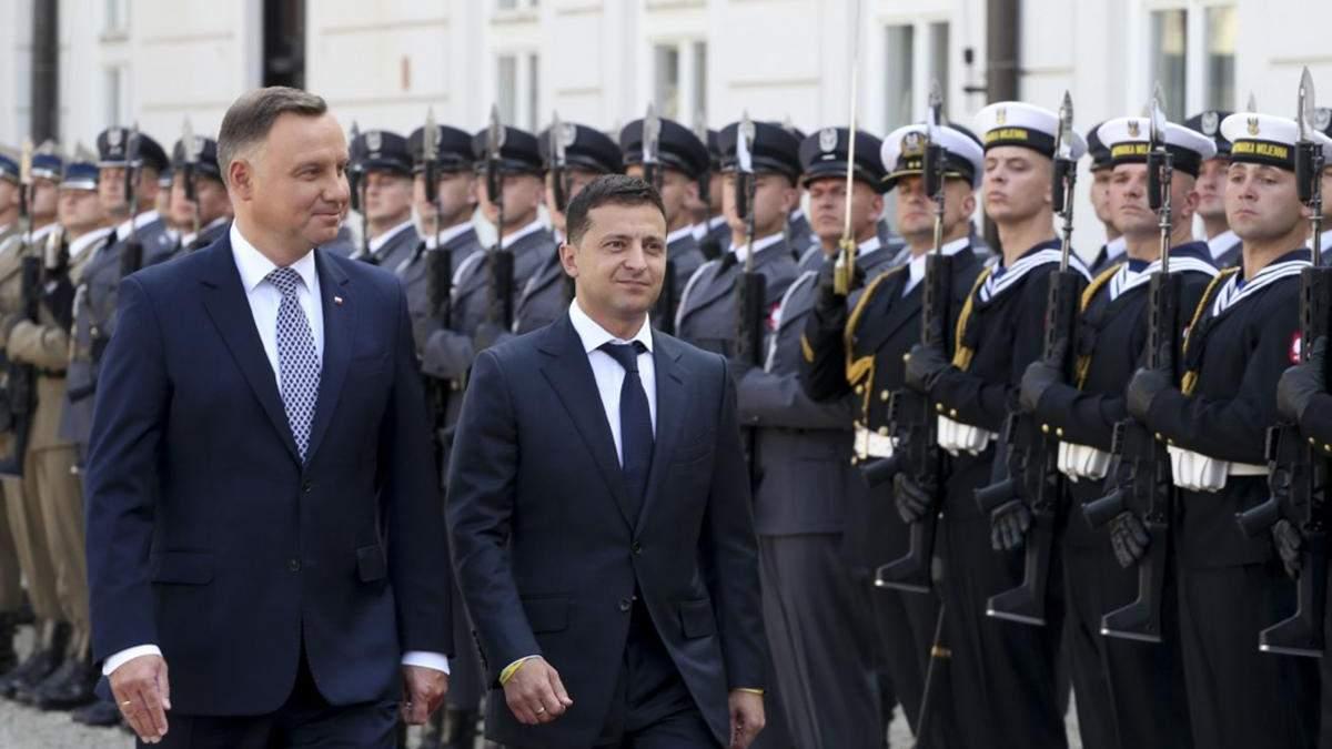 Після зустрічі з Зеленським Дуда заявив, що санкції проти Росії мають зберігатися