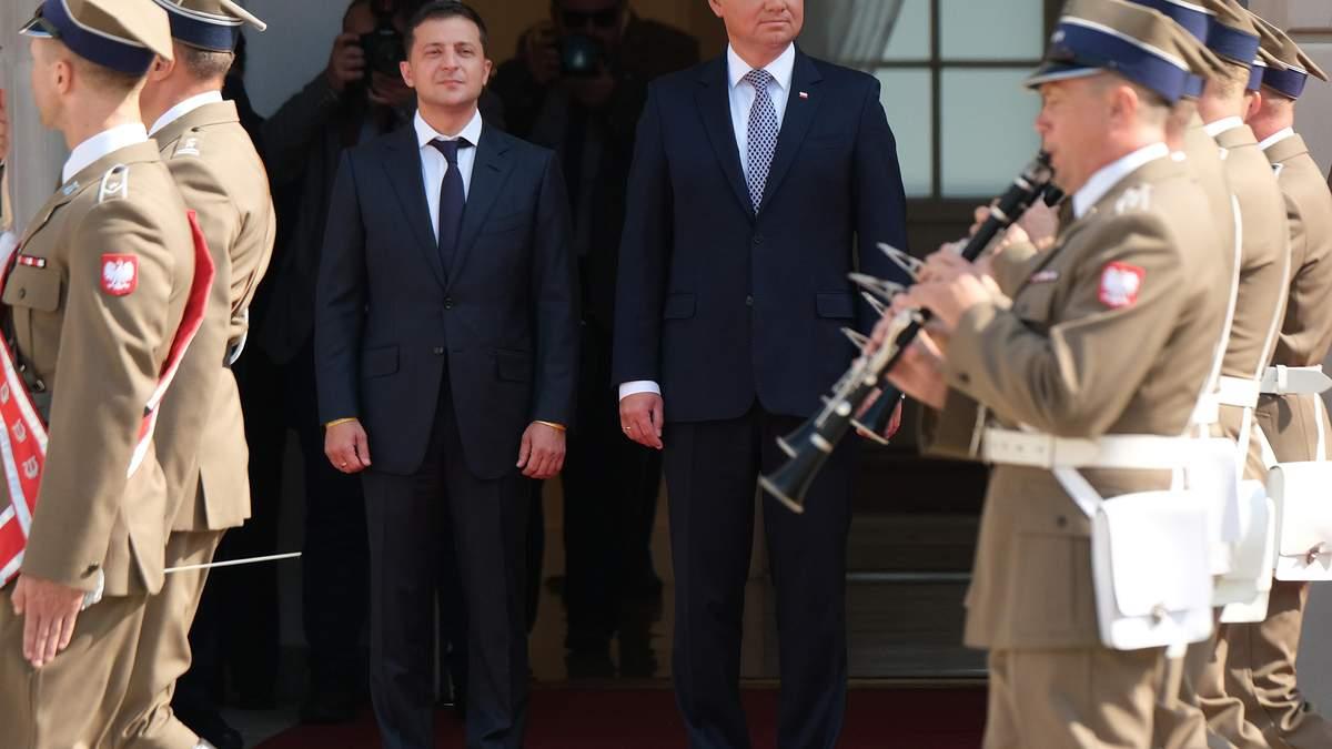 Зеленський пропонує Дуді збудувати на кордоні меморіал примирення