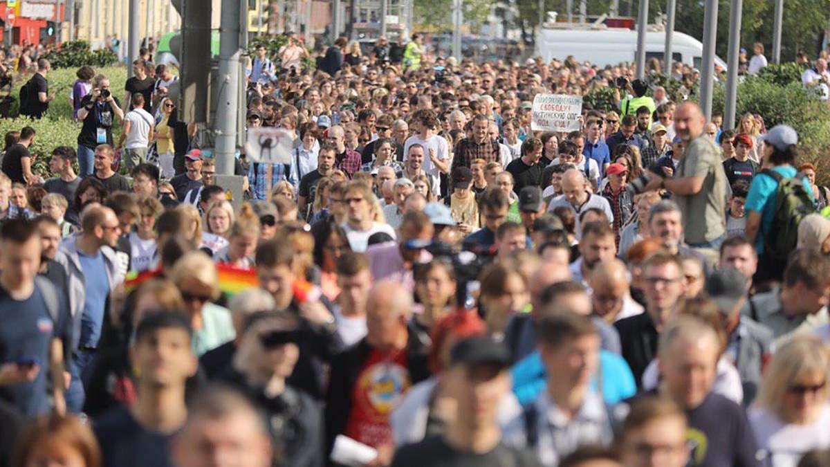 В Москве снова вышли на акцию протеста