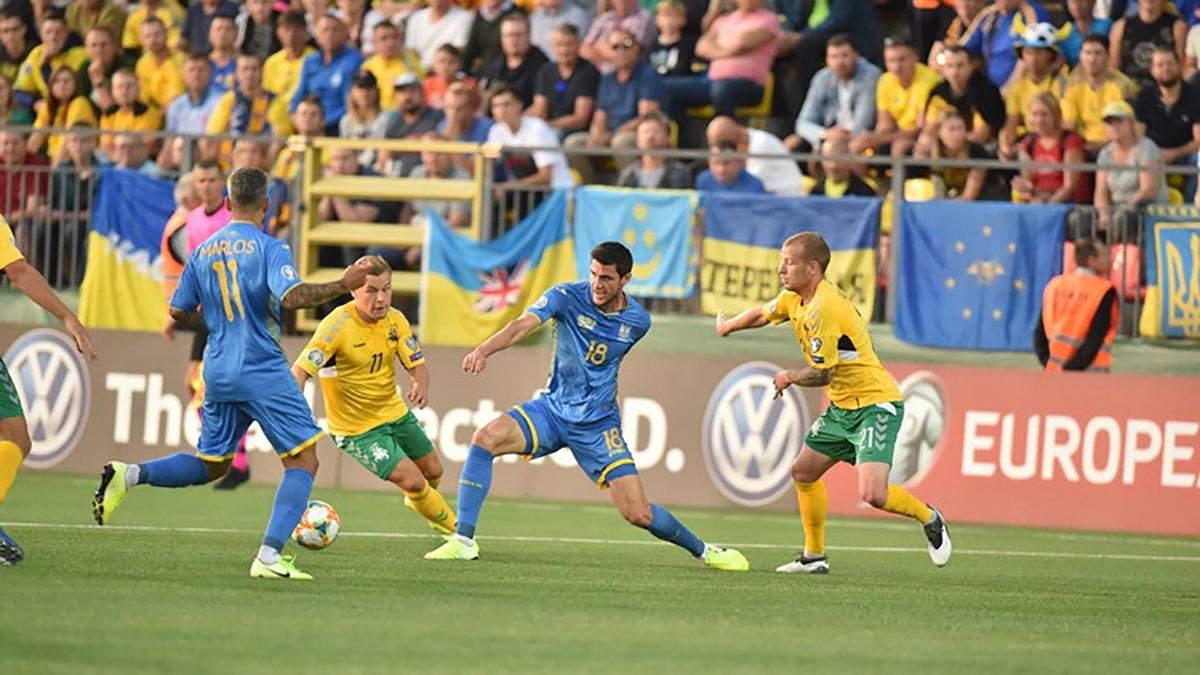 Литва – Украина: обзор видео голов матча 7 сентября 2019 – Евро 2020
