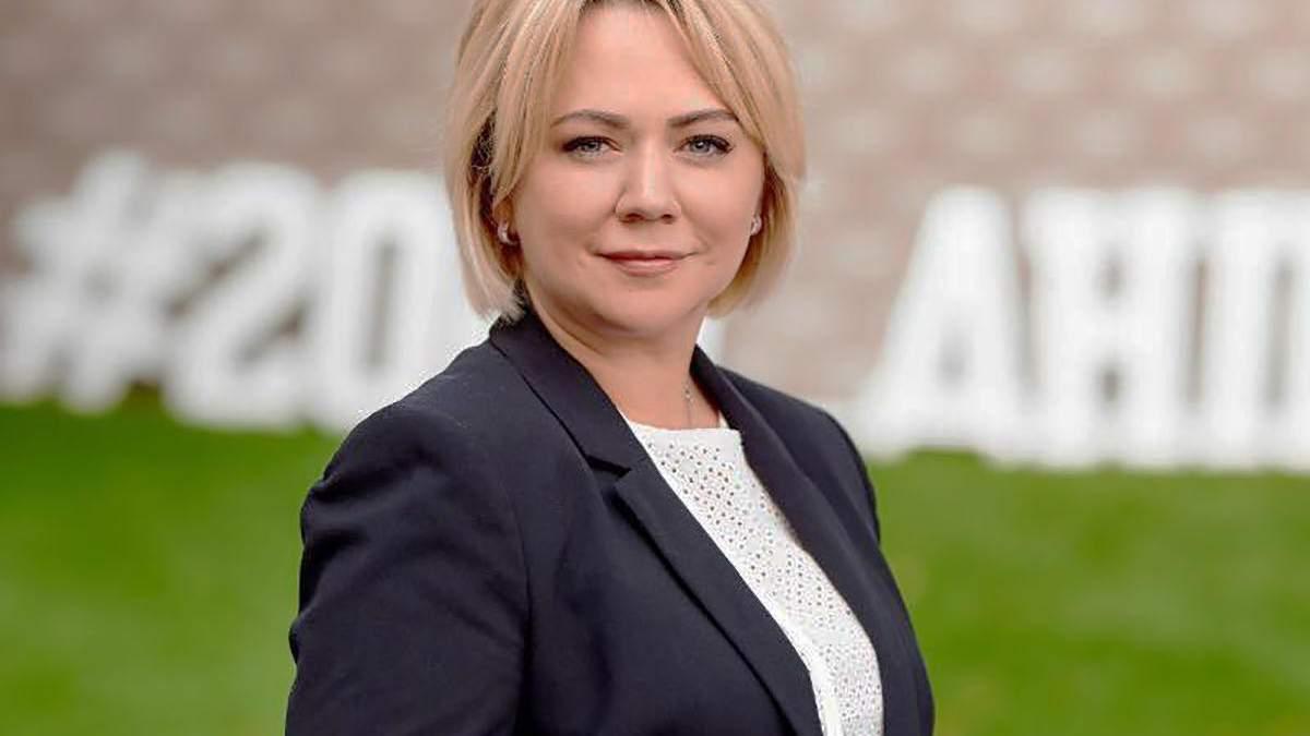 Міністерка з питань ветеранів і окупованих територій Оксана Коляда