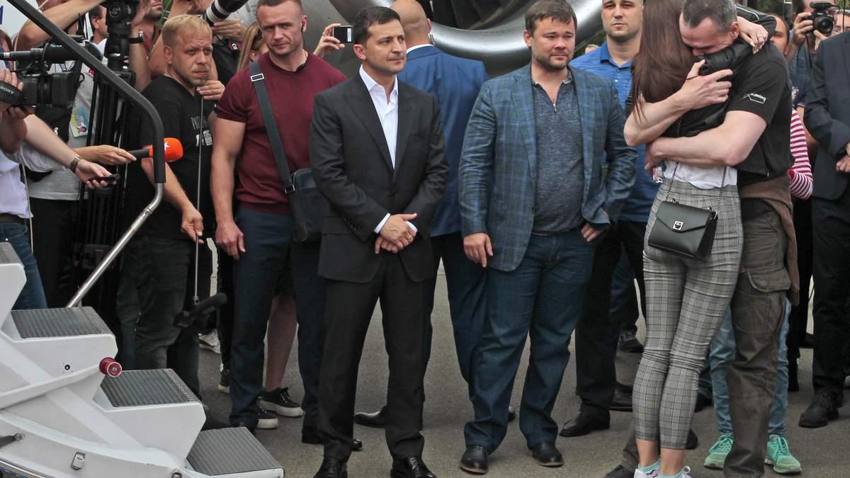 Возвращение украинцев из плена