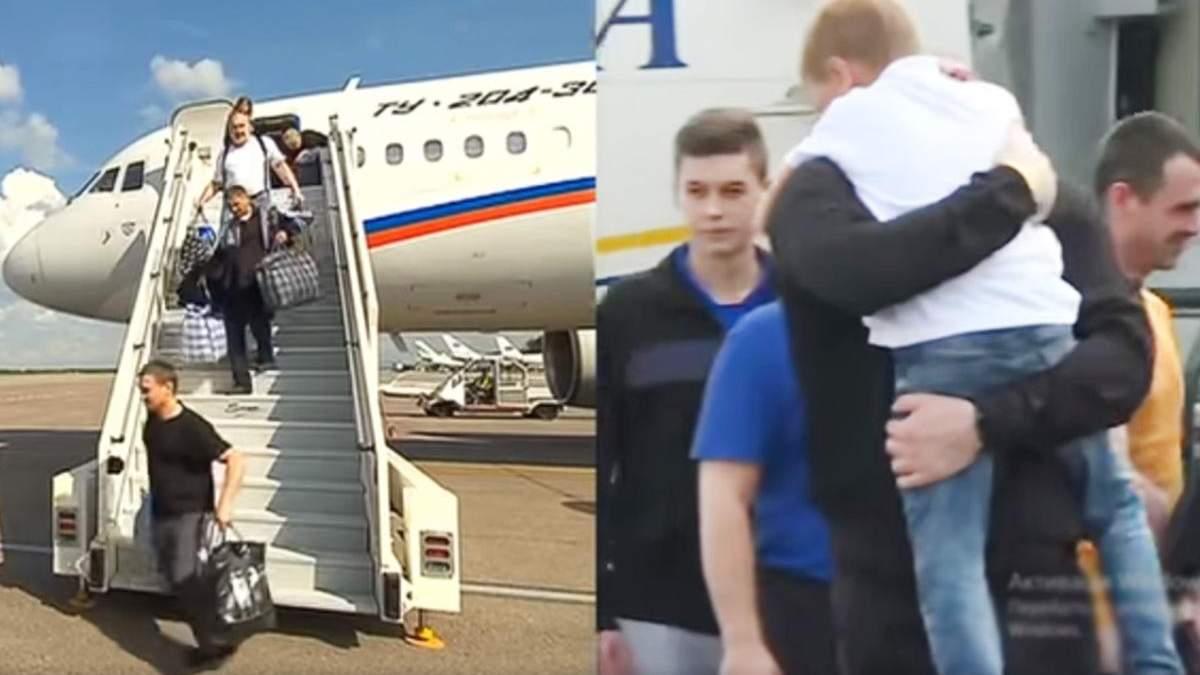 Встреча освобожденных пленных в России и Украине