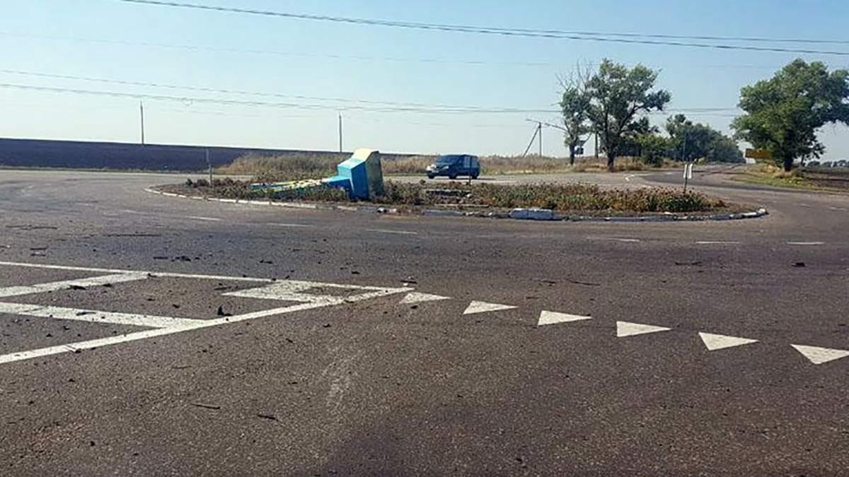 В Марьинке под Донецком сгорел автомобиль