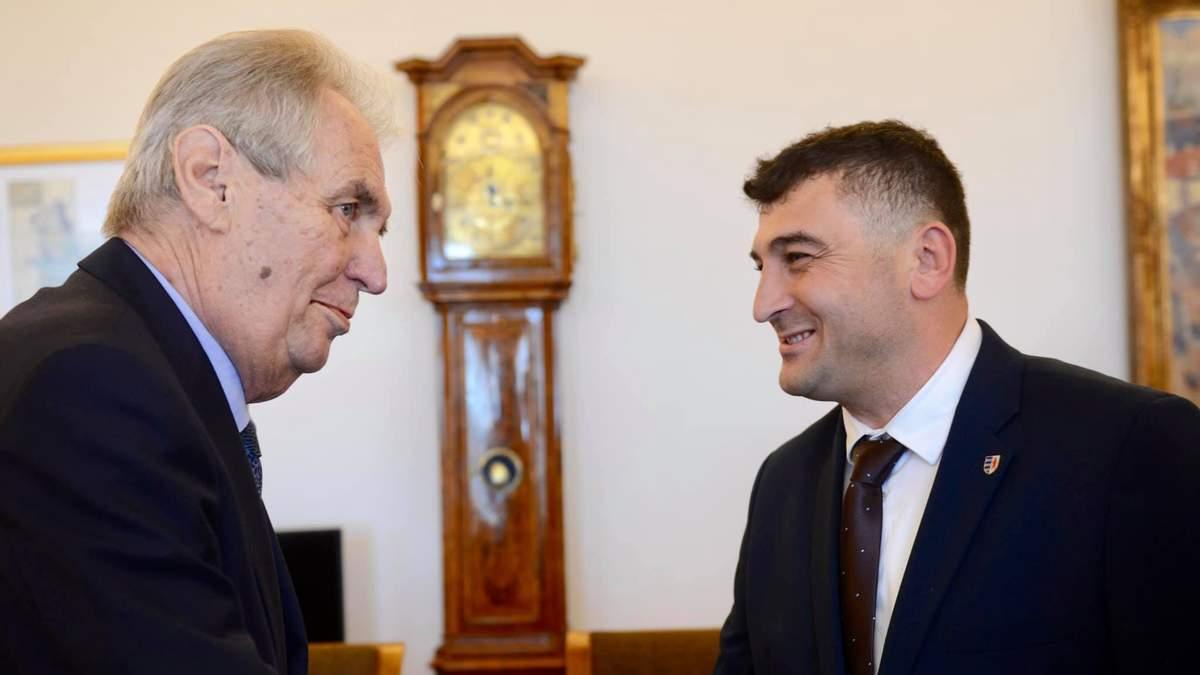 Зустріч президента Чехії Мілоша Земана з представниками русинів.