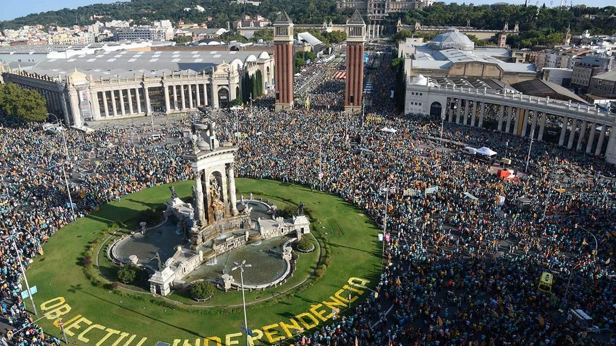 Мітинг у Барселоні за незалежність Каталонії від Іспанії