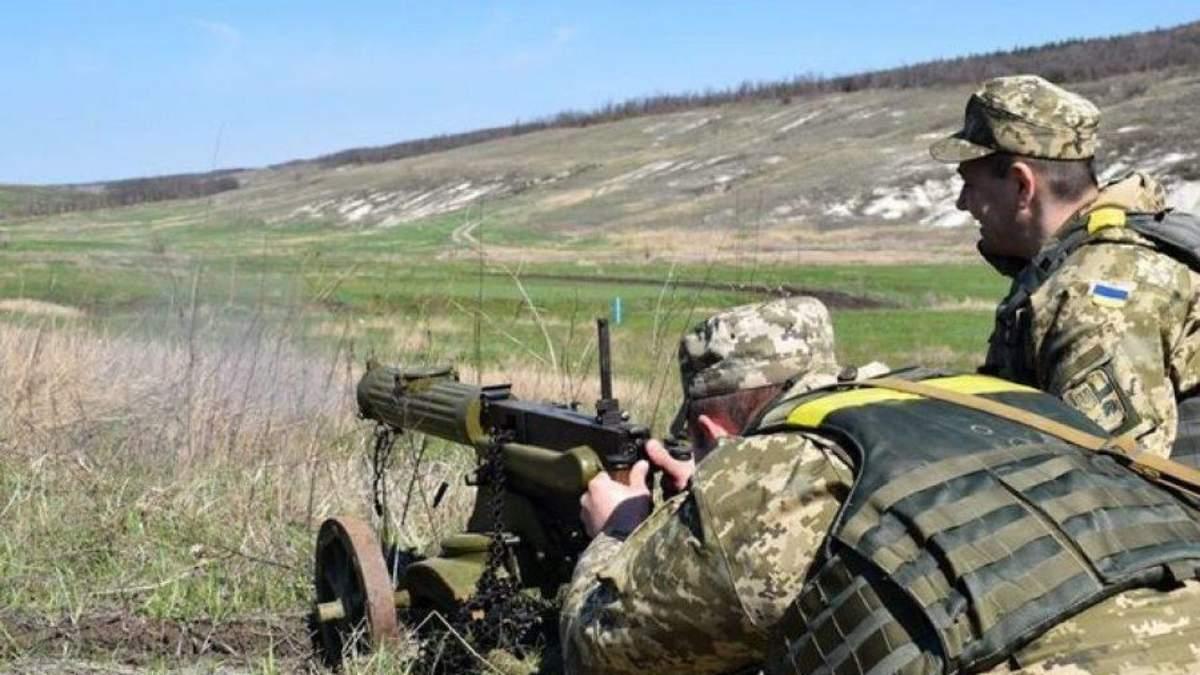 Украинские бойцы убили трех боевиков и захватили их пулеметчика