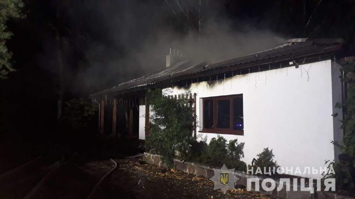 Пожежа у будинку Гонтаревої