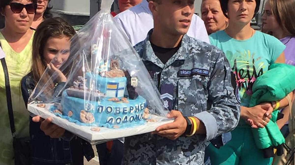 Зустріч українських моряків в Одесі