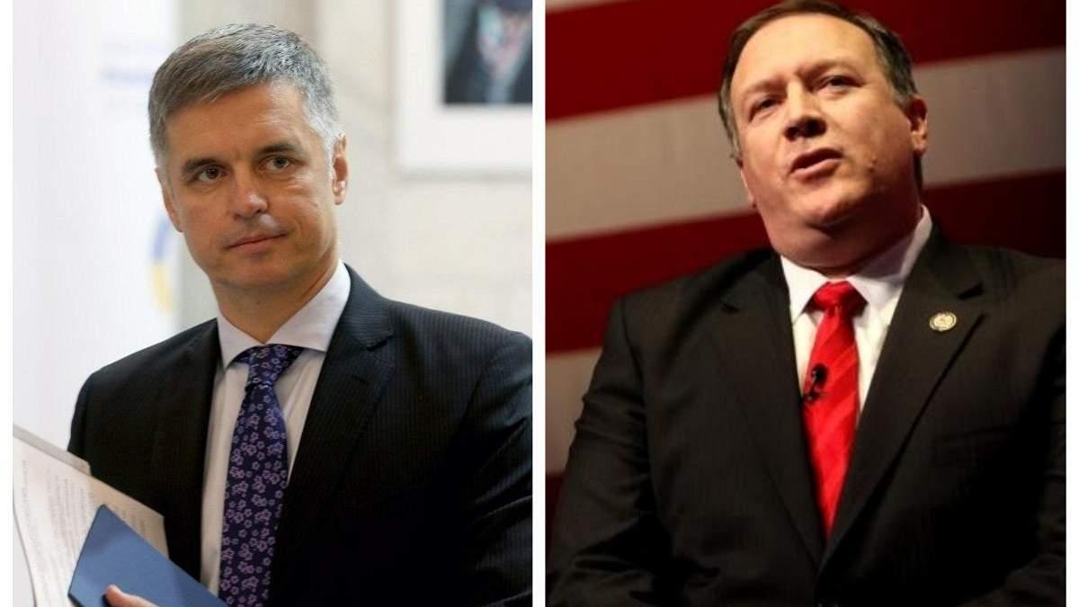 Новий глава МЗС Пристайко провів першу розмову з держсекретарем США Помпео