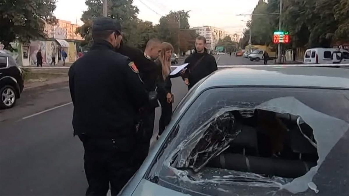 В Одесі авто в'їхало у натовп протестувальників