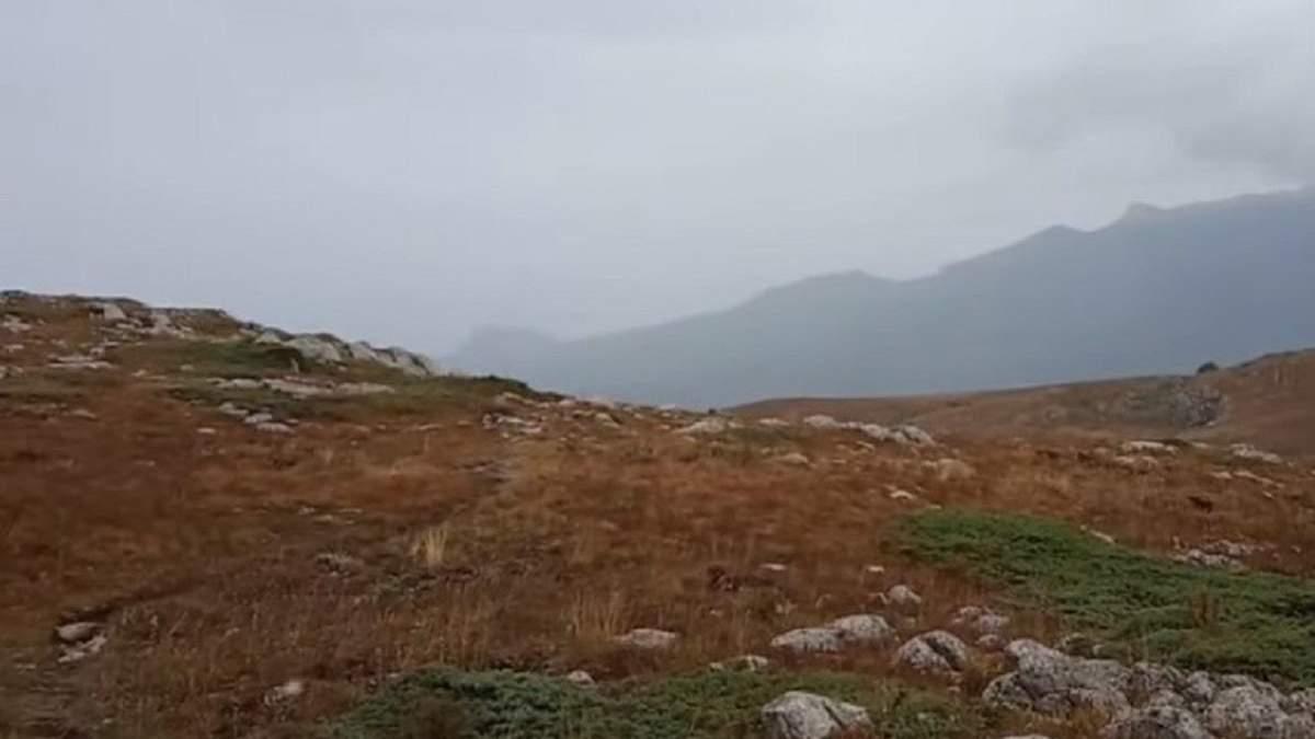 В горах Крыма – первый снег