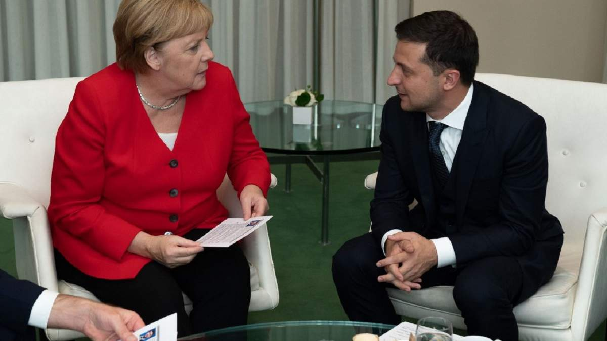 Владимир Зеленский провел встречу с Ангелой Меркель