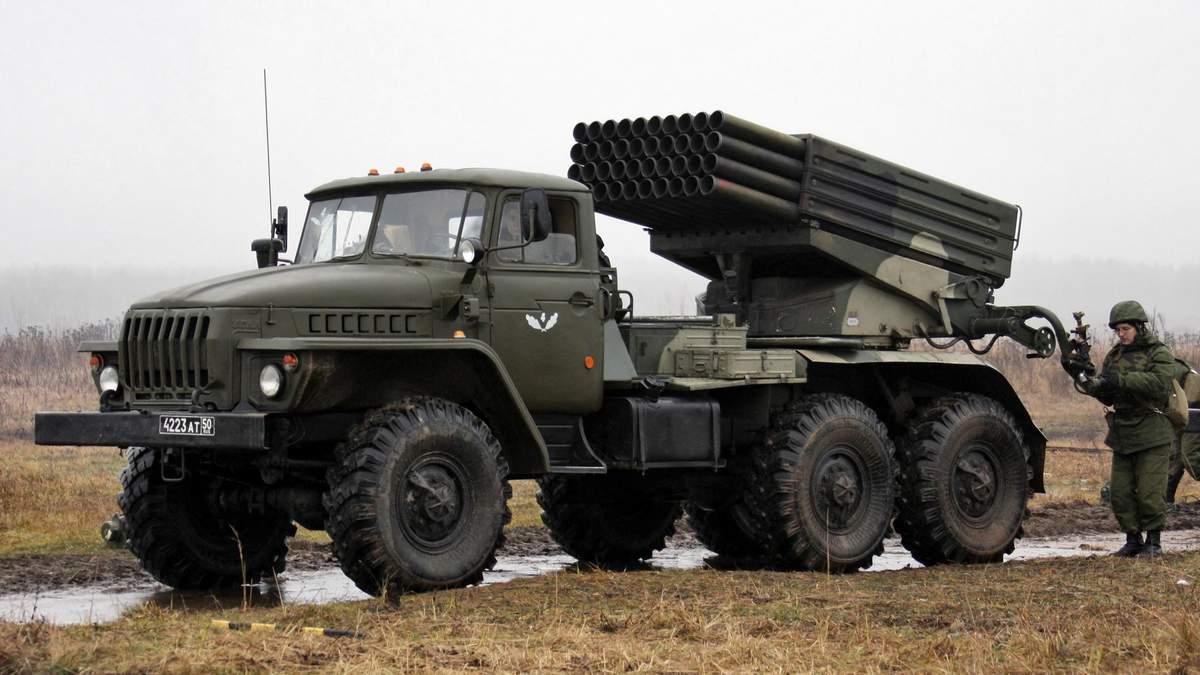 Оккупанты держат на Донбассе тяжелое вооружение