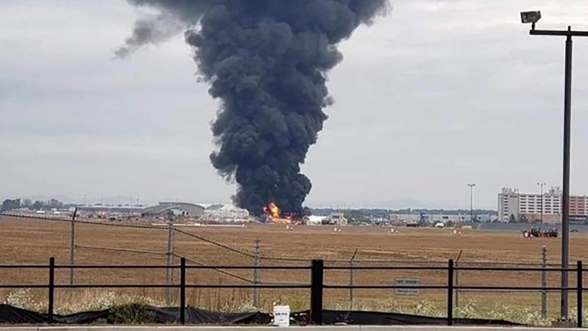 В США во время аварии бомбардировщика погибли 7 человек