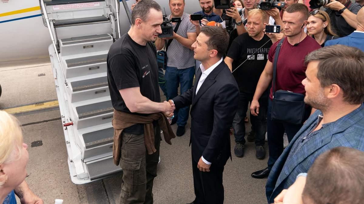 Олег Сенцов и Владимир Зеленский