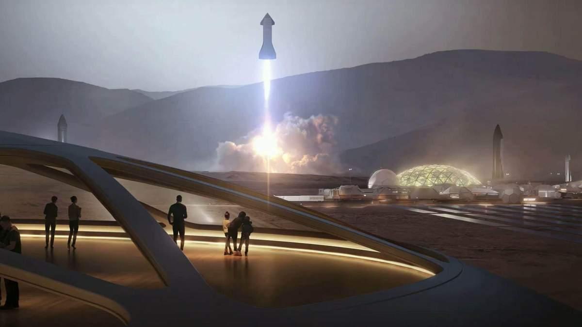 Політ космічного корабля SpaceX Starship показали на відео