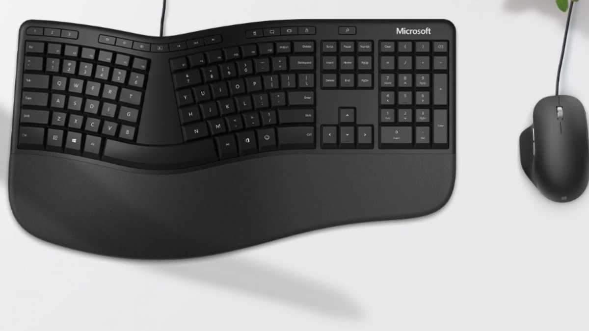Клавіатура Microsoft Ergonomic Keyboard.