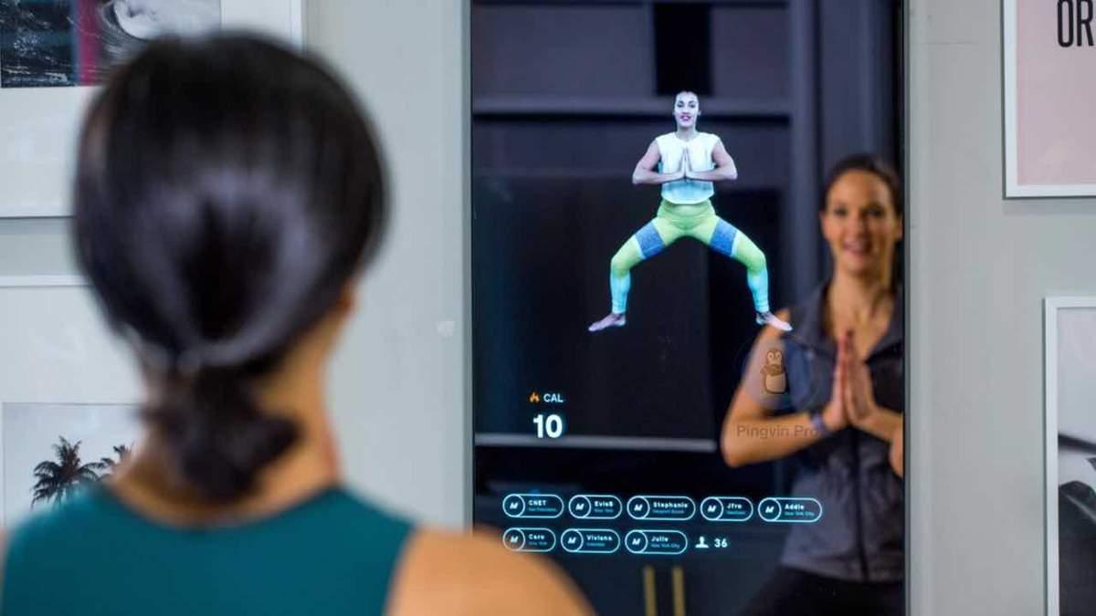 Розумне дзеркало із віртуальним тренером
