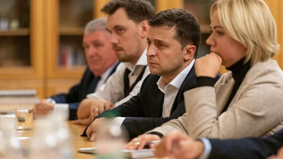 Зеленский встретился с родственниками погибших на Донбассе бойцов