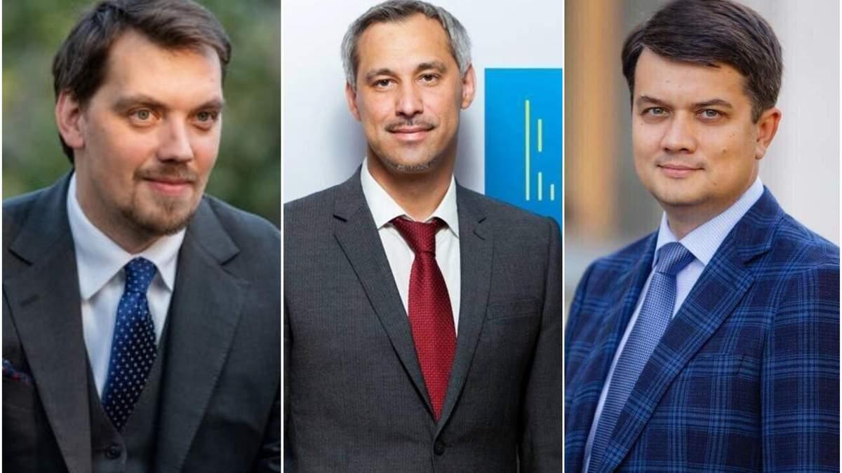 Відома зарплата Гончарука, Рябошапки і Разумкова за вересень