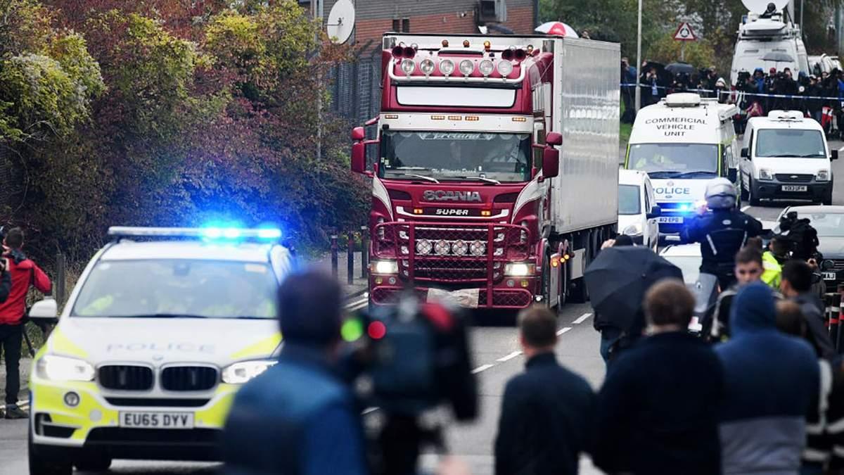 Вантажівка з 39 трупами у Британії: поліція затримала ще одного підозрюваного