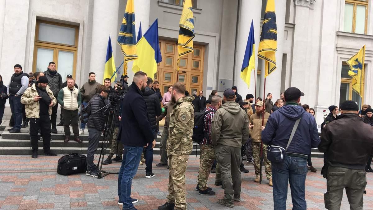Ветераны полка пришли под МИД