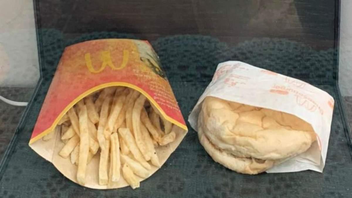 Человек 10 лет хранил еду из McDonald's, и она почти не изменилась: фото