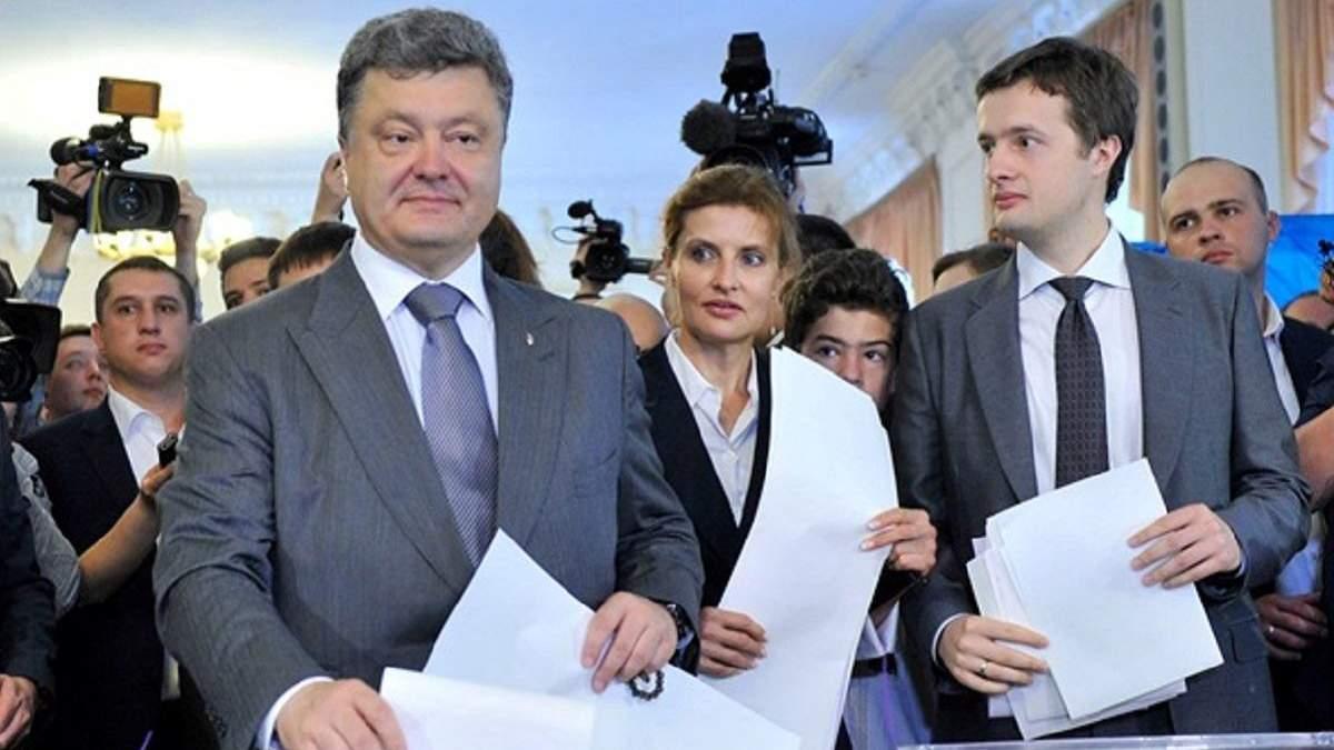 Петро Порошенко активно переписує свій бізнес на сина Олексія