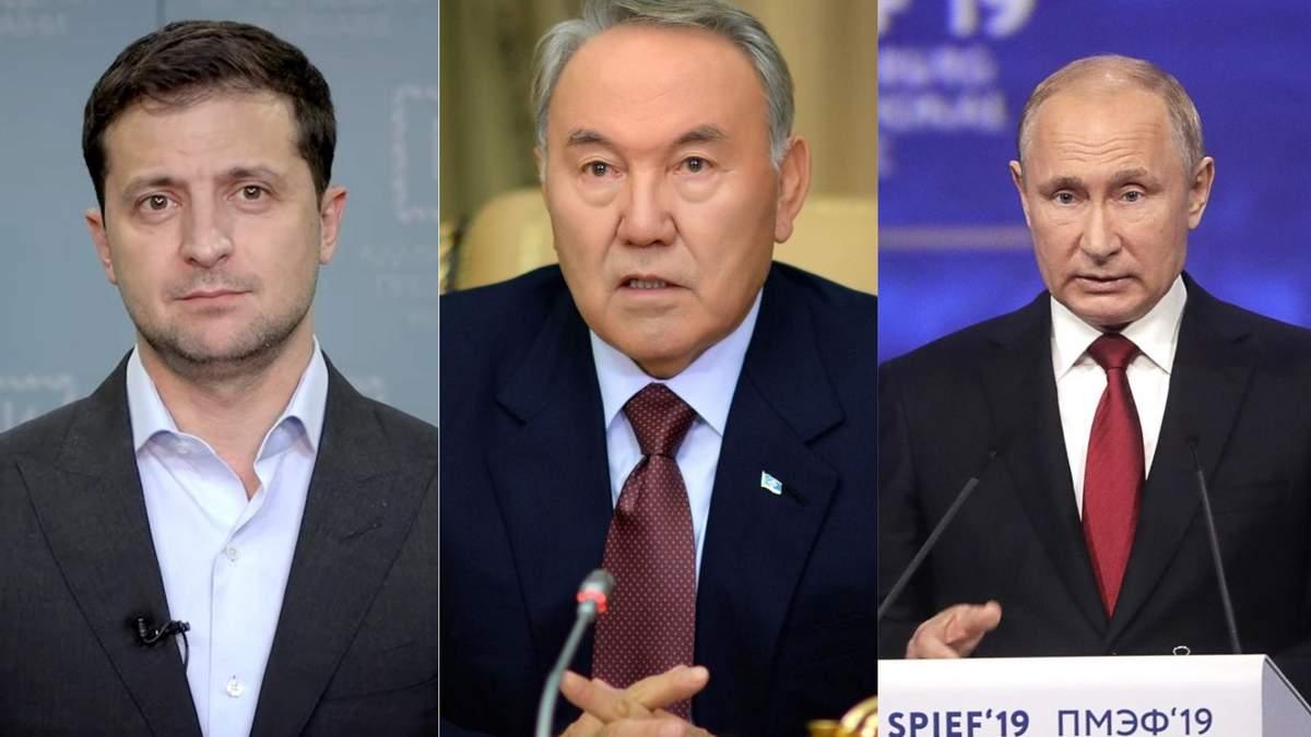 Назарбаев предлагает Зеленскому и Путину встретиться в Казахстане