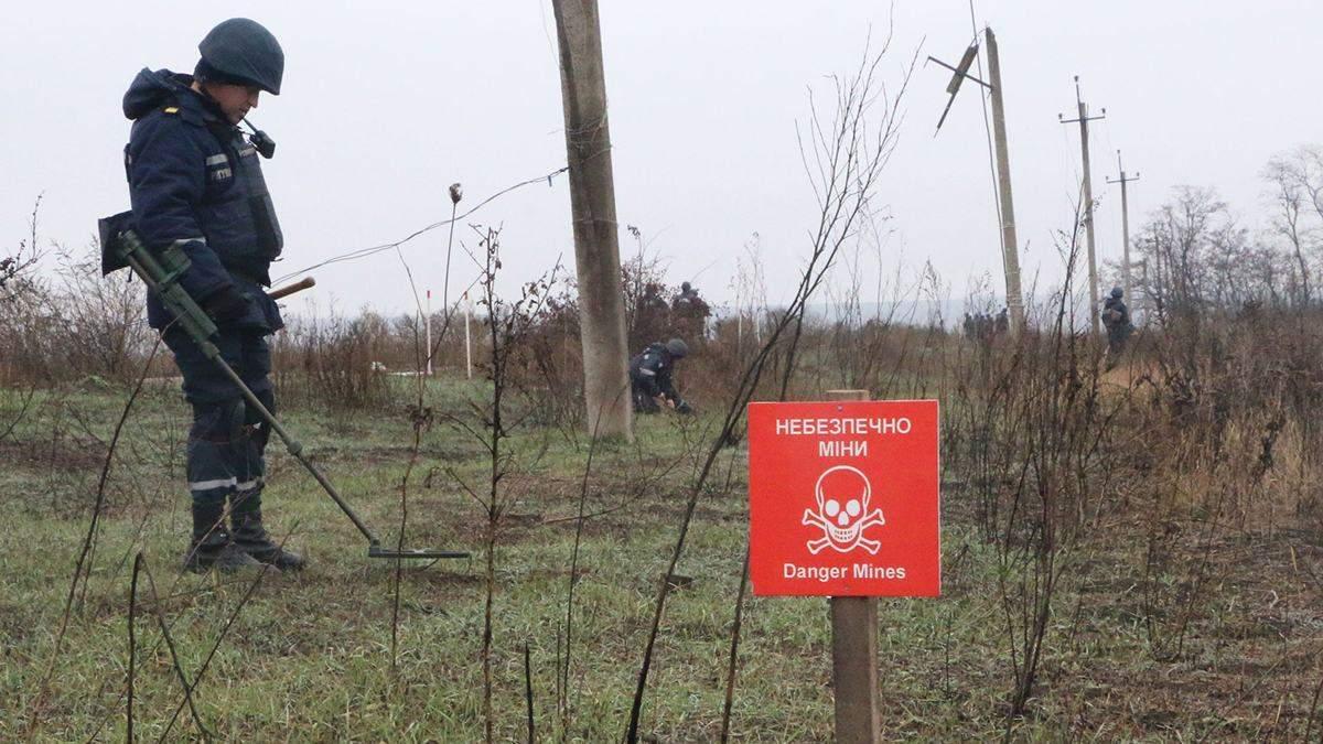 Как в Петровском разминируют территорию: фото, видео