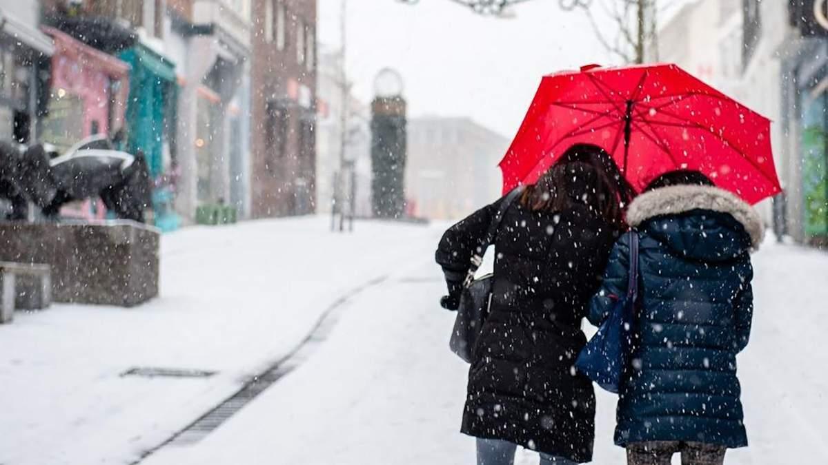 Францию завалило обильным снегом