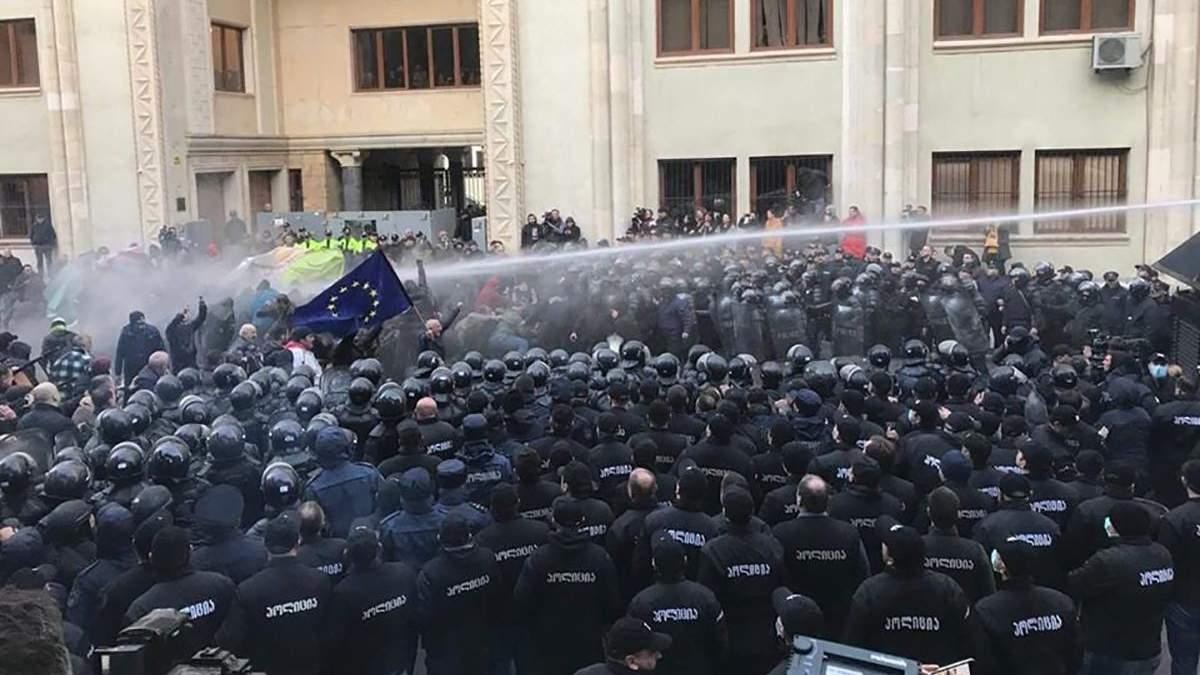 Тбілісі, поліція застосувала водомети