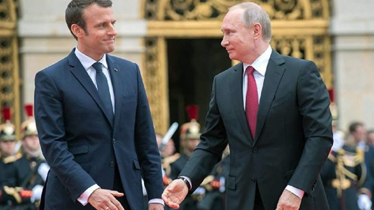 Путин и Макрон по телефону обсудили ситуацию в Украине