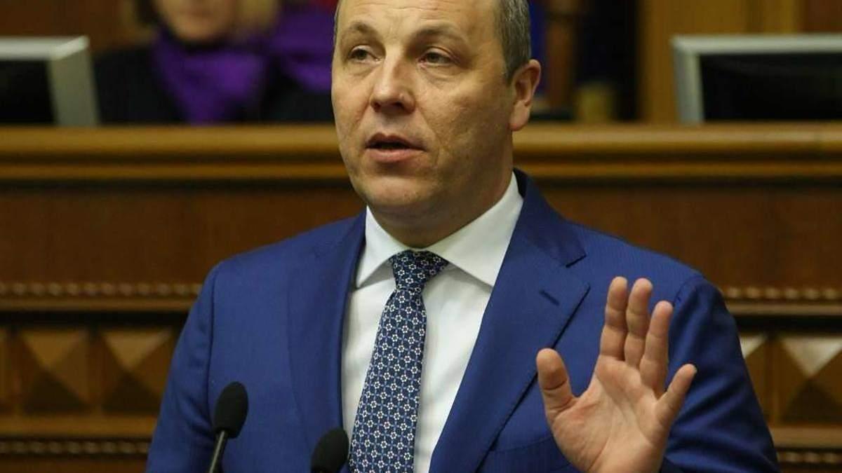Парубий дает показания по делу о преступлениях против Майдана