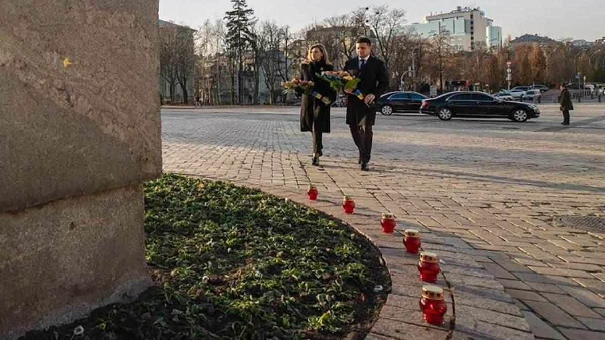 Володимир та Олена Зеленські вшанували пам'ять жертв Голодомору