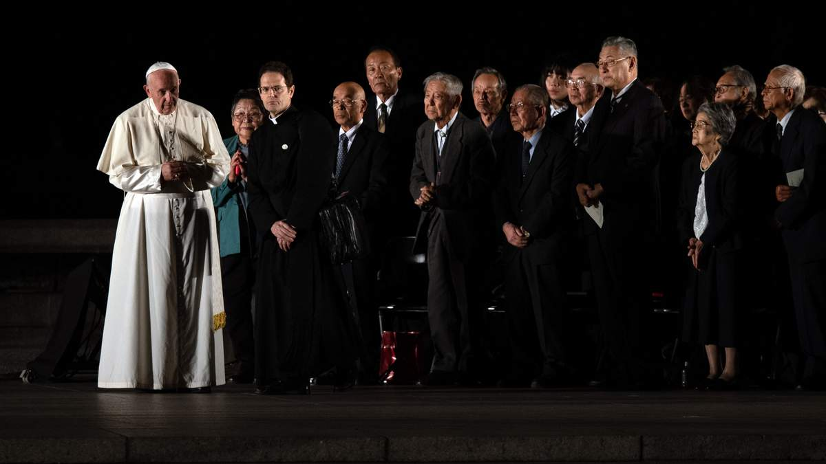 Папа Римский посетил Хиросиму