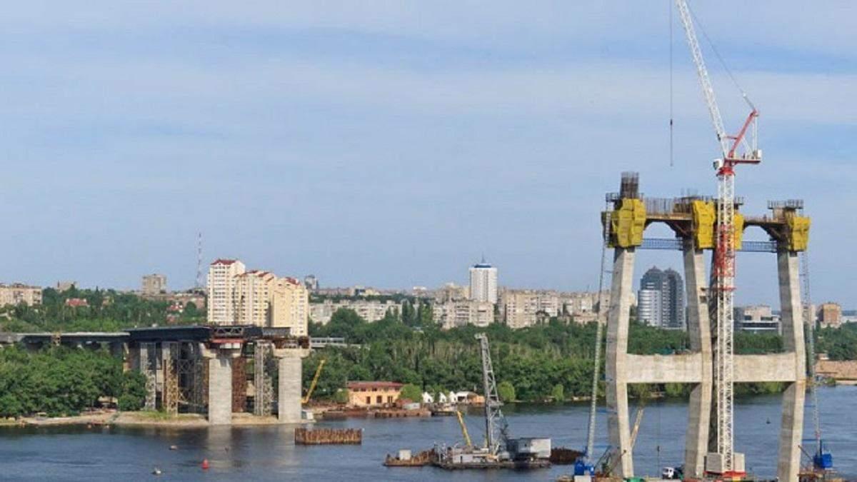 Недостроенный Новый мост в Запорожье