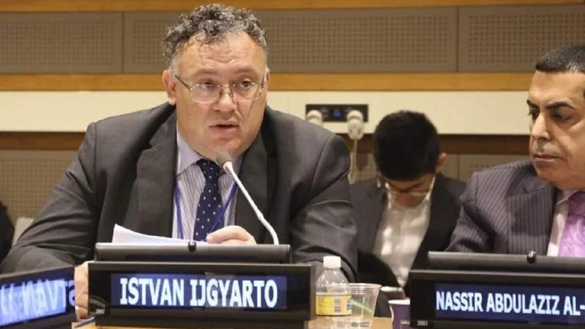 """Угорський посол Ійдярто заявив, що йому """"забагато української мови"""": як відреагували в Україні"""