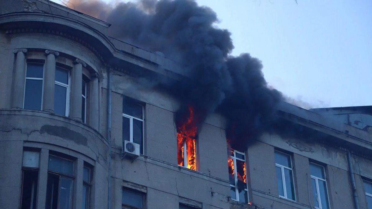 Через пожежу в коледжі Одеси оголошено дводенну жалобу