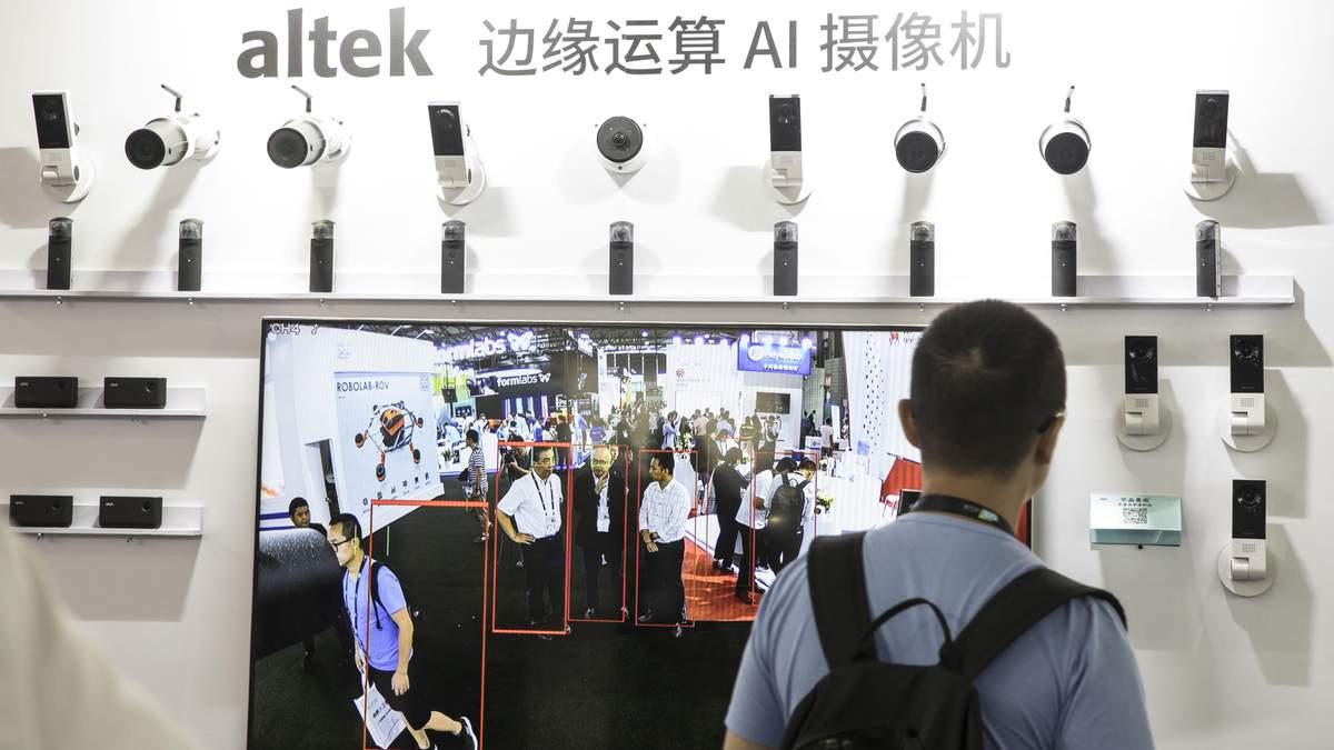 Системы наблюдения на выставке в Китае