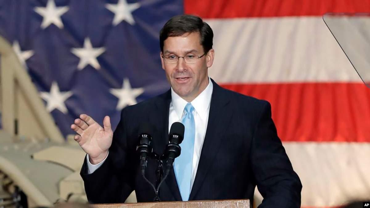 США готують новий транш військової допомоги Україні, – міністр оборони Еспер