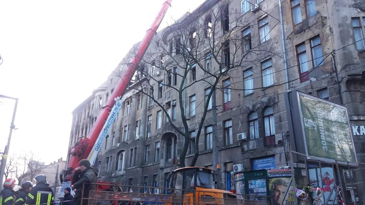 Пожар в Одессе на Троицкой: директору колледжа объявили подозрение