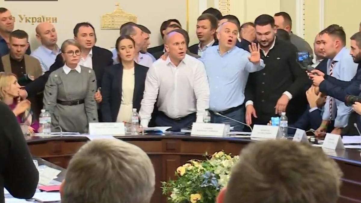 Депутаты потолкались на заседании Аграрного комитета из-за закона о рынке земли: видео
