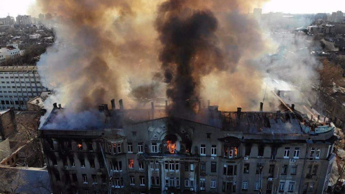 Пожар в колледже в Одессе произошел 4 декабря