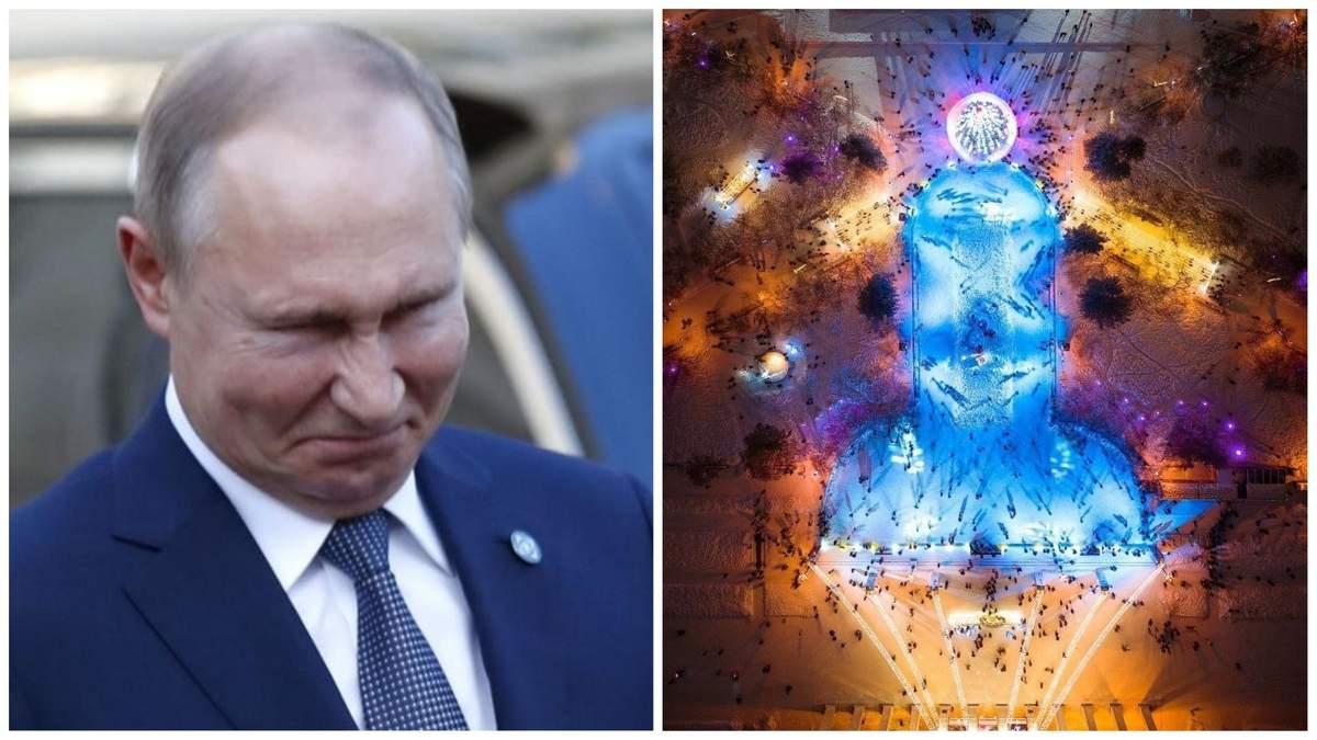 Імені Путіна: в Новосибірську влада зробила ковзанку у формі статевого члена
